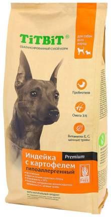 Сухой корм для собак TiTBiT Premium Гипоаллергенный, беззерновой, индейка, картовель, 13кг