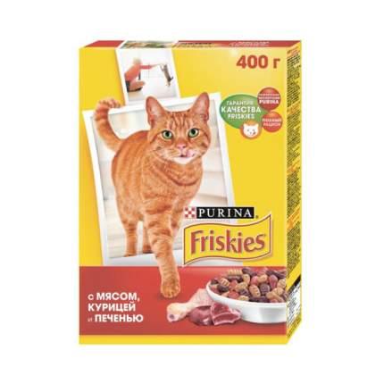 Сухой корм для кошек Friskies, мясное ассорти, 0,4кг