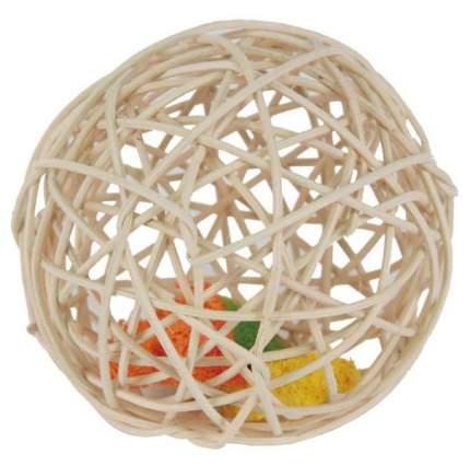Игрушка для грызунов Fauna International Мяч плетеный, ротанг, в ассортименте, 12см
