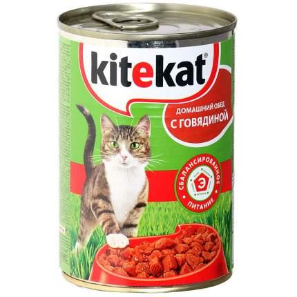 Консервы для кошек Kitekat Домашний обед, с говядиной, 400г