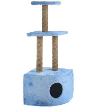 Комплекс для кошек Зоомарк, угловой, 3-ярусный, мех, 42 х 42 х 105 см