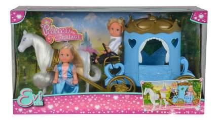 Кукла Simba Еви и Тимми в карете, 12 см