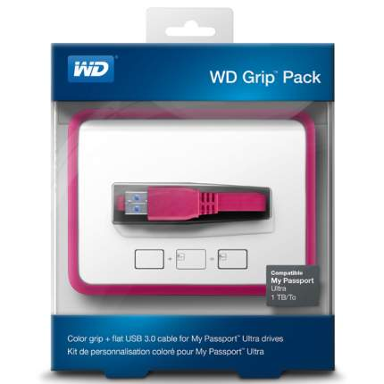 Кейс для портативного USB диска/внеш.HDD WD GRIP PACK FUCHSIA (WDBZBY0000NPM-EASN)