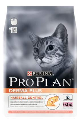 Сухой корм для кошек PRO PLAN Derma Plus, для чувствительной кожи, лосось, 10кг