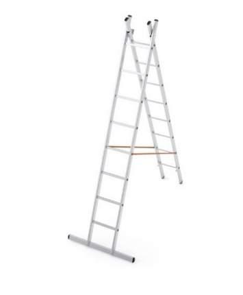 Лестница секционная Dogrular Ufuk 2 секции 8 ступеней алюминий (411208)