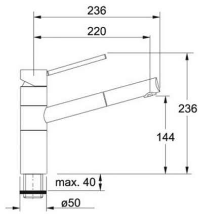 Смеситель для кухонной мойки Franke 350 115.0175.785 шоколад