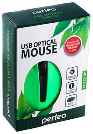 Проводная мышка Perfeo PF-353-OP-GN Green/Black