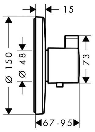 Смеситель для встраиваемой системы Hansgrohe Ecostat S 15755000 хром