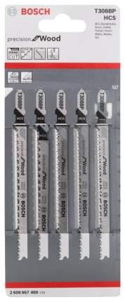 Набор пилок для лобзика Bosch T308BP PrecisionWood 2608667400