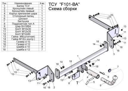 Фаркоп Leader Plus для Ford F101-A