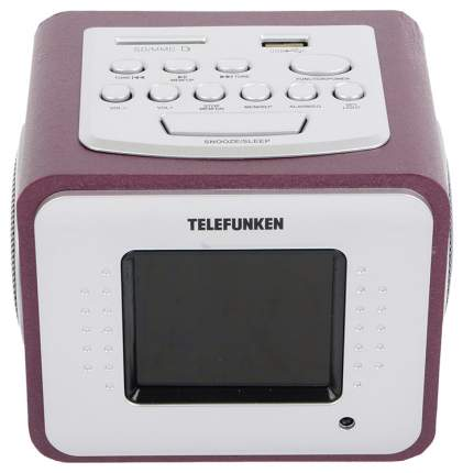 Радио-часы Telefunken TF-1575U Бордо
