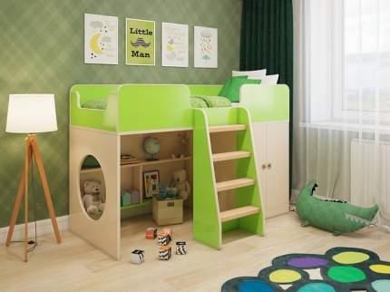 Кровать-чердак Пятая точка Зеленый