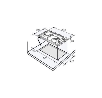 Встраиваемая варочная панель газовая Delonghi I 23/1ASVC Silver