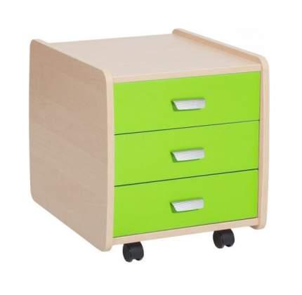 Тумба детская Астек Лидер 3 ящика береза зеленый
