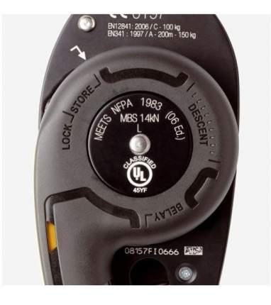Спусковое устройство Petzl I'D S черное