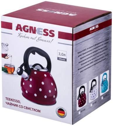 Чайник Agness Горошек 937-800