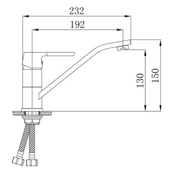 Смеситель для кухонной мойки РМС SL123W-004F-25