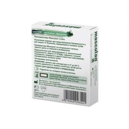 Презервативы Masculan №4 Ultra с утолщенными стенками 3 шт.