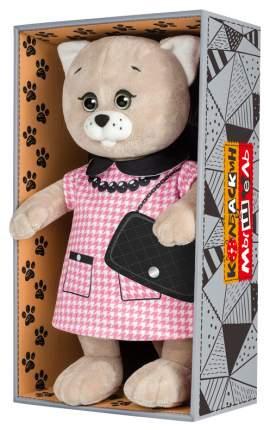 Мягкая игрушка животное Колбаскин&Мышель Мышель в Розовом Платье 25 см