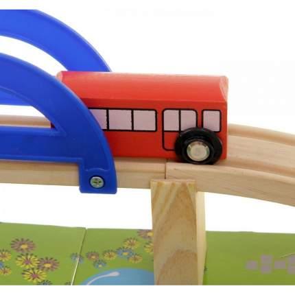 Деревянная железная дорога Animal World 40 деталей