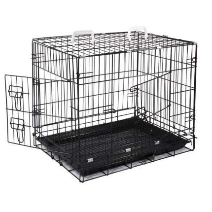 Клетка для животных Triol c 2 дверцами, эмаль, черная, 77x56x64 см