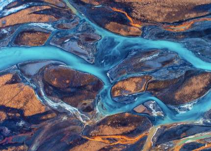 Постер Бирюзовая река 60х90 в тубусе