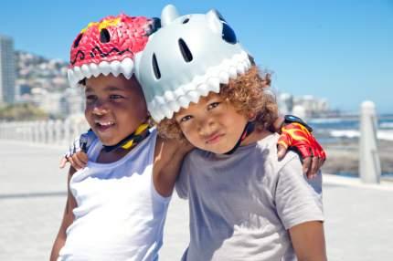 Шлем защитный детский Crazy Safety 2017 Chinese Dragon красный
