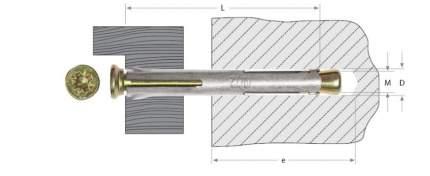 Анкерный крепеж Зубр Pz 10х92мм ТФ2 60шт