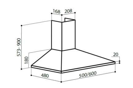 Вытяжка купольная Lex Basic 500 CHTI000306 Белый