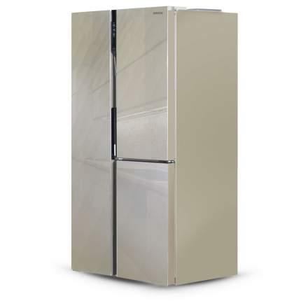 Холодильник Side-by-Side Ginzzu NFK-475 Gold glass