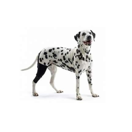 Протектор для собак Kruuse Rehab Knee Protector на левое колено, черный, XL