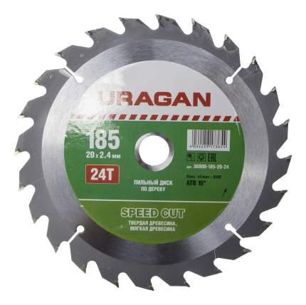 Диск по дереву для дисковых пил Uragan 36800-185-20-24