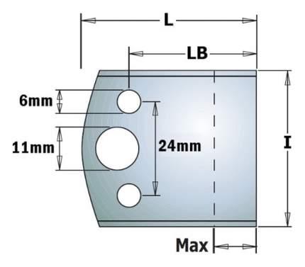 Комплект из 2-х бланкет 40x4 HSS 690.193H