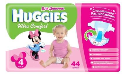 Подгузники Huggies Ultra Comfort для девочек 4 (8-14 кг), 44 шт.