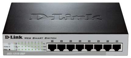 Коммутатор D-Link Web Smart DES-1210-08P Серый, черный