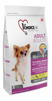 Сухой корм для собак 1st choice Adult Toy&Small Breeds Healthy Skin&Coat, ягненок, 2,72кг