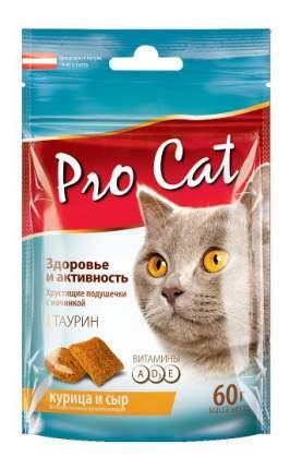 Лакомство для кошек PRO CAT Здоровье и активность Курица/Сыр, 60г