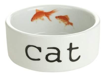 Одинарная миска для кошек Beeztees, керамика, белый, 0.3 л