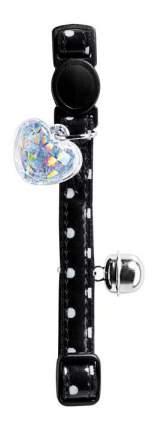 Ошейник для кошек HUNTER Glossy Dots искусственная кожа, черный, 20-32 см