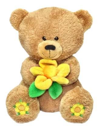 Мягкая игрушка LAVA Медвежонок Масик с вышитыми пятками, 28 см