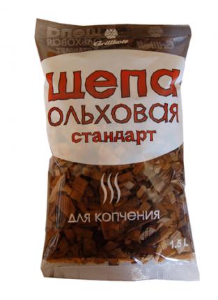 """Щепа ольховая Грилькофф """"Стандарт"""" для копчения 1,5 л."""