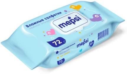 Детские влажные салфетки Mepsi, 72 шт.