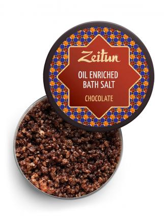 Морская соль с эфирными маслами Zeitun Шоколадная, с маслом плодов какао и ванилью