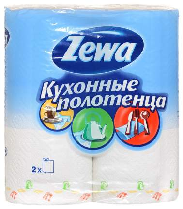Бумажные полотенца Zewa двухслойные 23*25 см 2 штуки