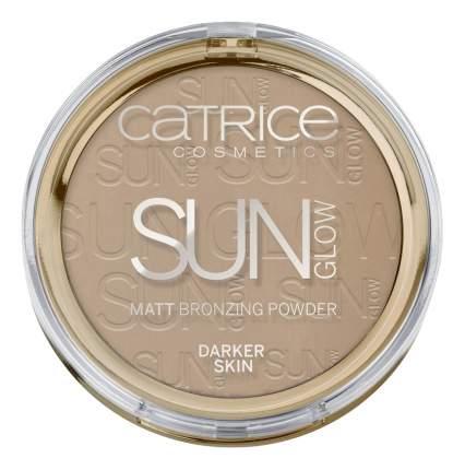 Бронзер для лица Sun Glow Matt Bronzing Powder 020 Deep Bronze