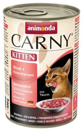 Консервы для котят Animonda Carny Kitten, индейка, говядина, 400г
