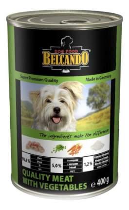 Консервы для собак BELCANDO Super Premium, отборное мясо с овощами, 400г