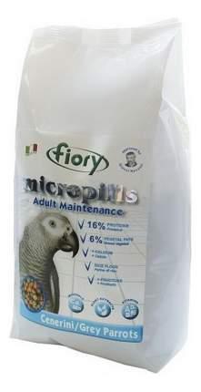 Основной корм FIORY Micropills Cenerini/Grey Parrot для попугаев 1400 г, 1 шт