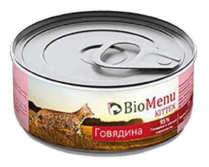 Консервы для котят BioMenu Kitten, говядина, 100г