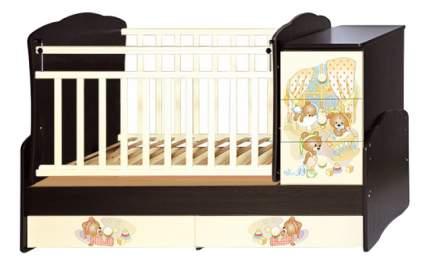 Кровать Антел Ульяна-1 слоновая кость-венге